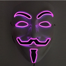 Party EL wire Vendetta mask and Fashion V Cosplay MASK Costume Guy Fawkes