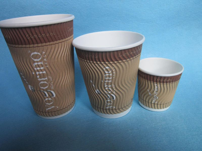 disposable 8oz ripple paper cup,paper coffee cup triple wall,printing ripple paper cups