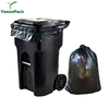 Recycling black plastic pop up biodegradable medical biohazard big garden waste bag