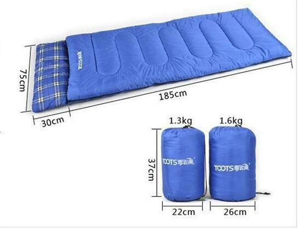 Factory sell envelope hollowfiber sleeping bag