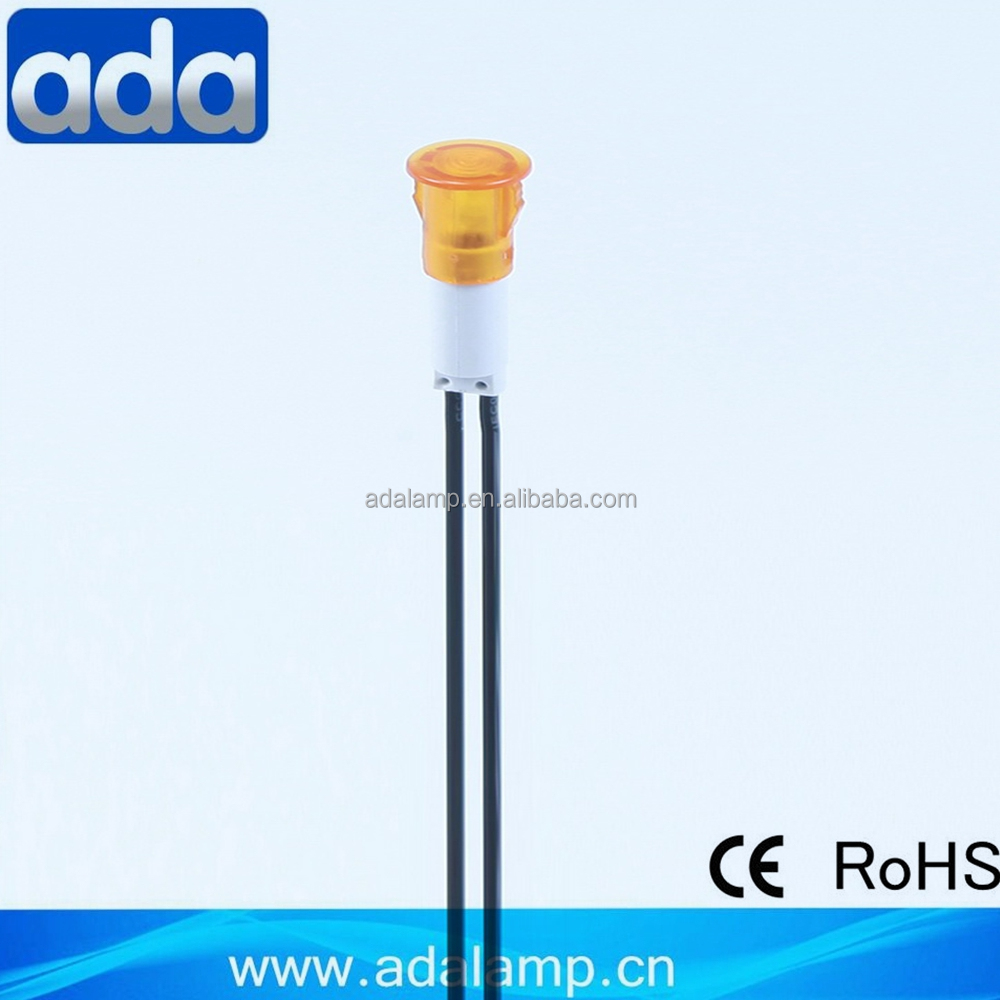 CE approved low voltage with cable amber 12v mini led indicator