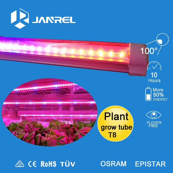hot sale good quanlity t8 blue/red led plant grow light tube