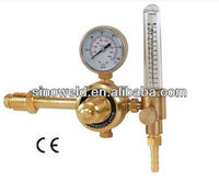CE Approved High Quality Brass Preset CO2 or Argon Gas Flowmeter Regulator