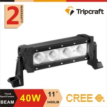 11 inch 40w led lightbar offroad lights 4 pcs chips led driving light bar with emark approved