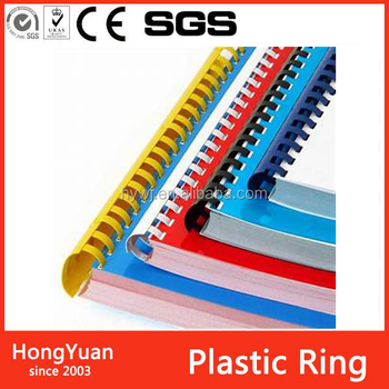 Promotion office and school stationery plastic comb binding ring