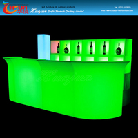 kitchen bar counter table designs with Led light made in China