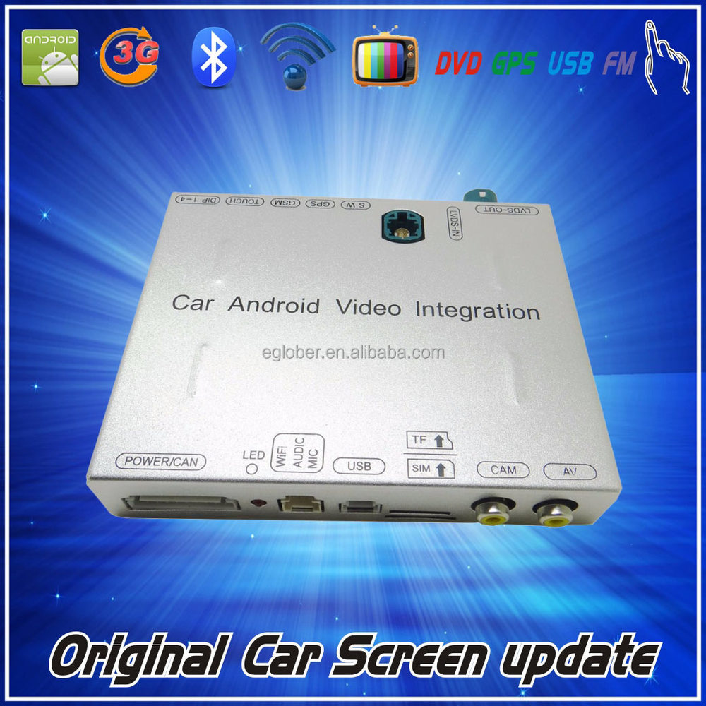 2013up NTG 4.5 Car Android video interface with WCDMA GSM network