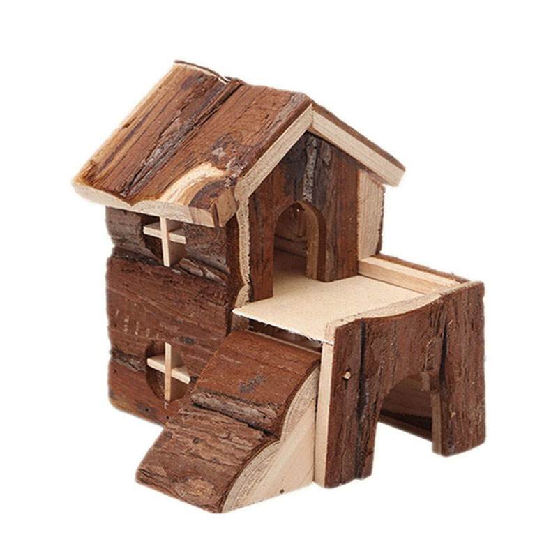 Wooden Pet Hamster House Deluxe Two Layers  cage for small animals