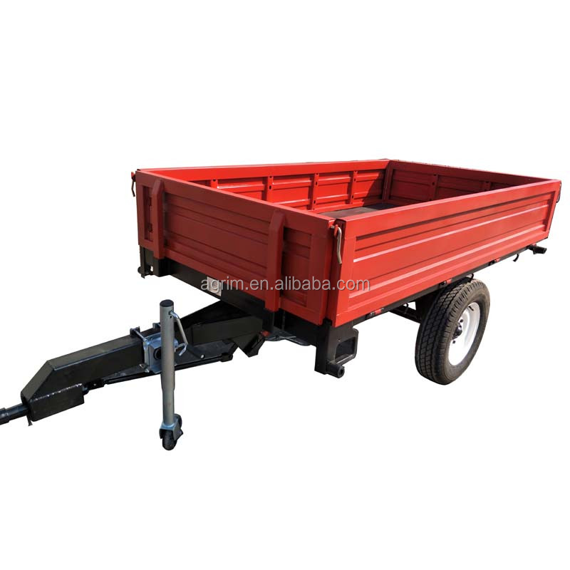 Farm machine mini 1 ton reap tipper single <strong>axle</strong> tractor trailer