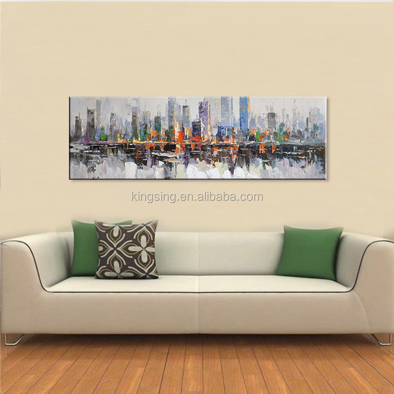 2018 hotsale unframed ship decorative abstract oil painting patterns on canvas