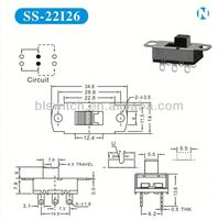 Rohs ceritification voltage selector slide switch for Communication products,Audio-Visluas Products