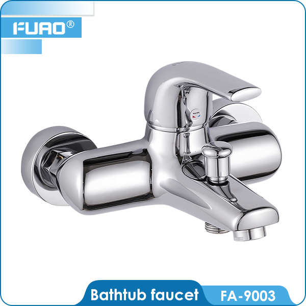 FUAO Free installation washroom brass unique removing bathtub faucet