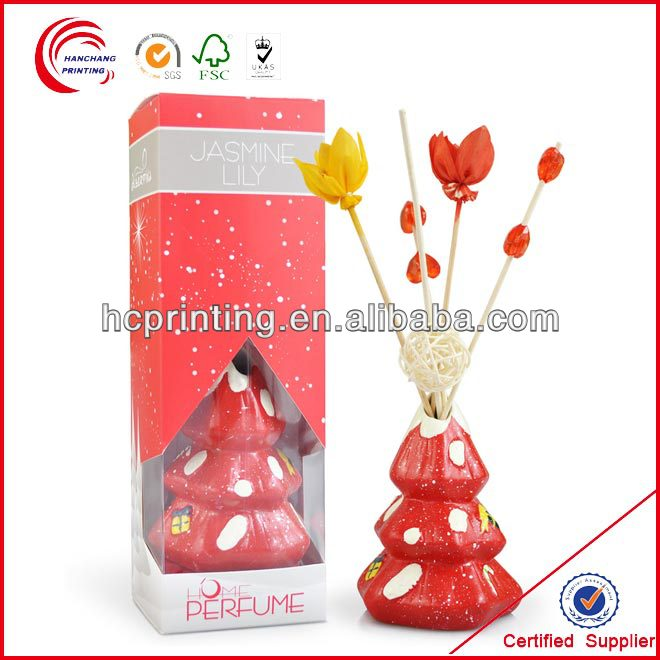 Red clear wind perfume box