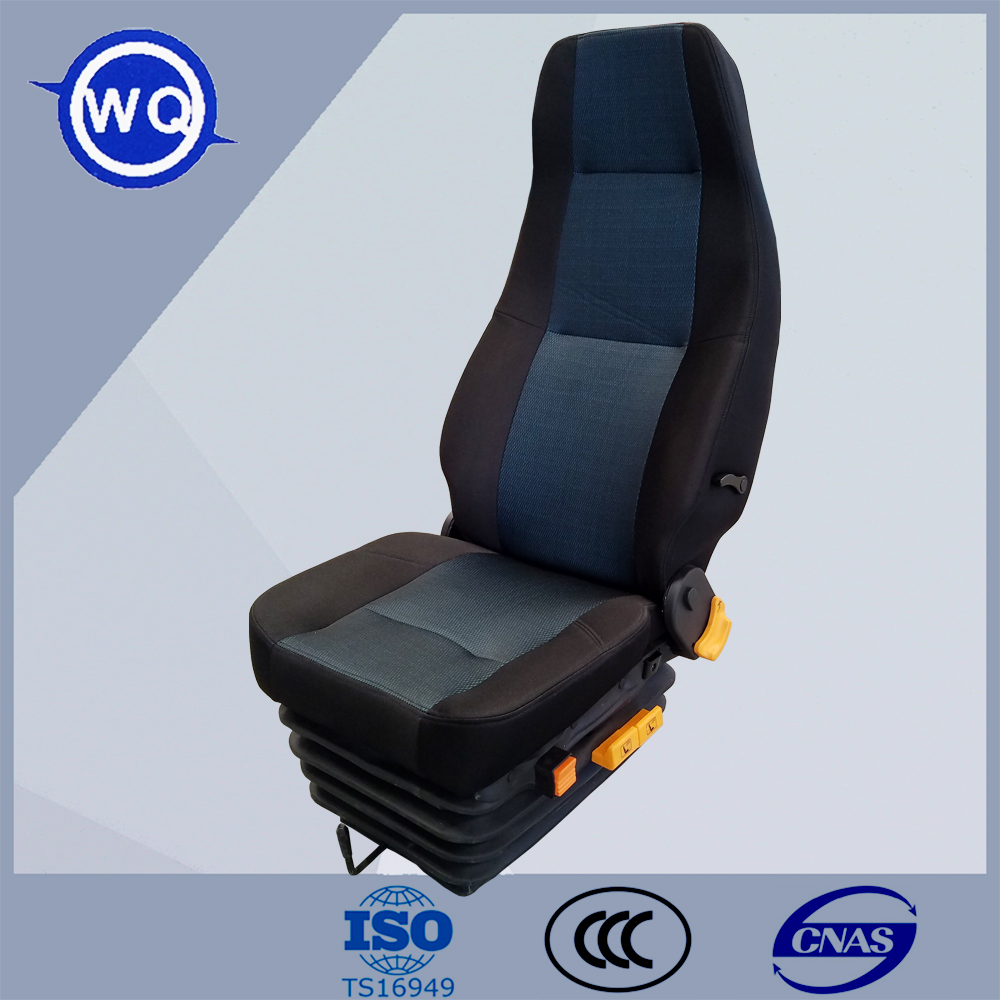 Good Quality air suspension heavy truck seat with 12V compressor