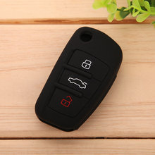 Black Silicone Skin Car Remote Fob Shell Key Holder Case Cover for Audi A1 A3 A4 A5 A6 A7 A8 Q5 Q7 R8 TT S5 S6 S7 S8 SQ5 RS5 TT