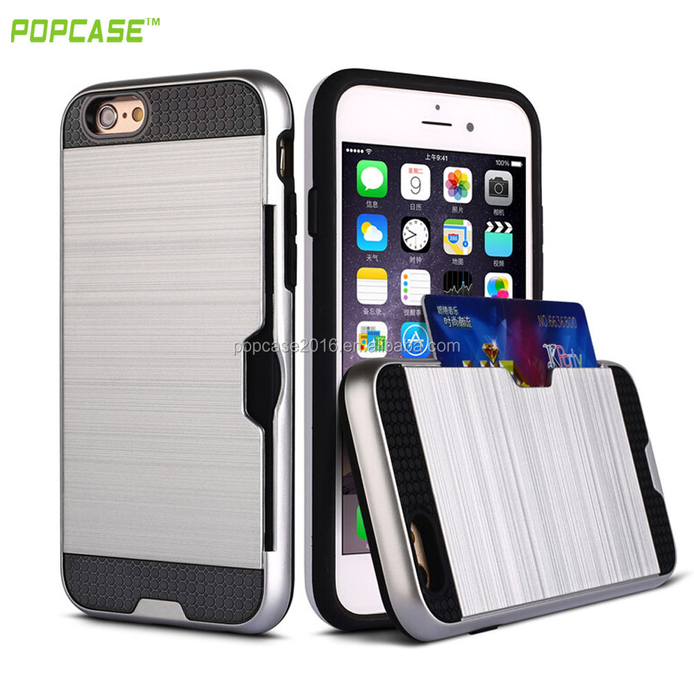 Beautiful plug-in card phone case function case ,order now low price phone accessories for Iphone6,Iphone6 plus