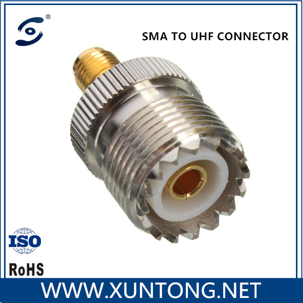 High Grade UHF Female To SMA Male Straight RF Connector Adapter