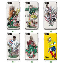 Famous soccer player Cristiano Ronaldo case for iPhone5 5s se TPU PC material in one Gareth Bale Comic case