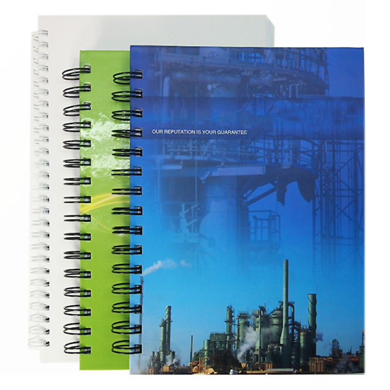 Stationery spiral bound graph paper notebook