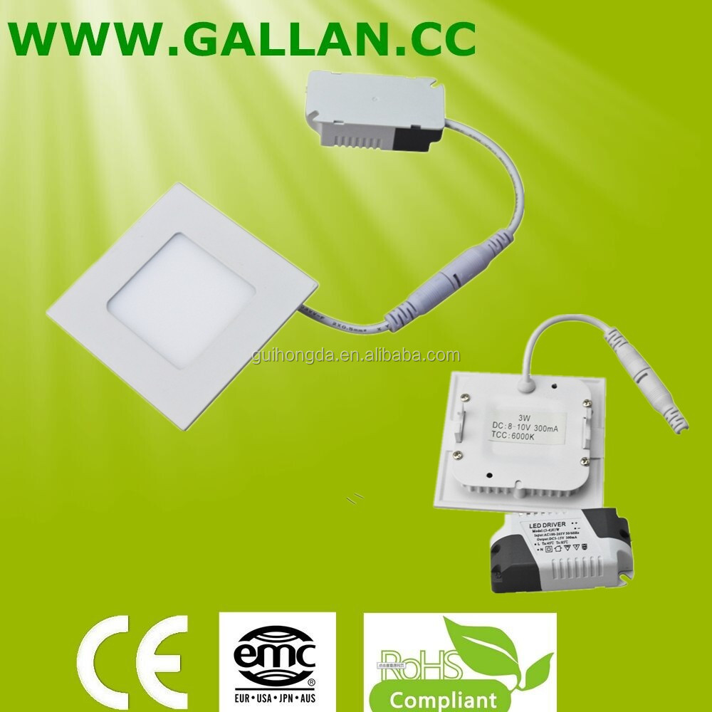 Gallan high quality cheap 3W mini flat square led panel ceiling light