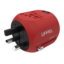 Travel Adapter US EU UK AUS Universal AC Plug Adapter Power Converter International Wall Charger with USB Type C Charging Ports