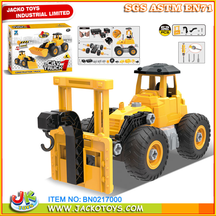 Construction Toys Product : Xikai toys plastic diy construction truck for kids buy