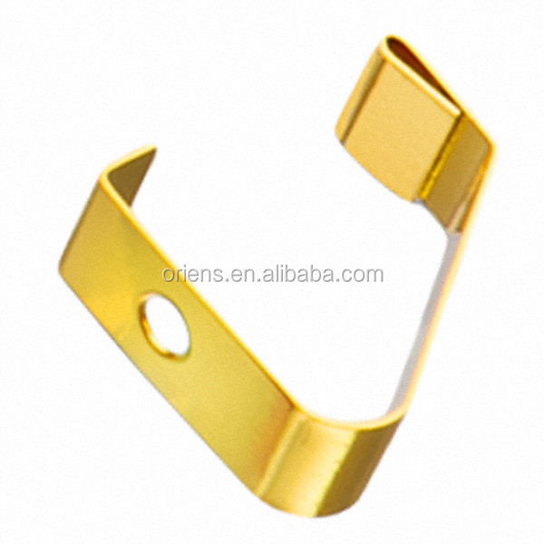 Custom golden color loaded and pressure spring electrical contacts clips