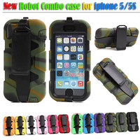 Hot shockproof defender hologram silicone phone case for iPhone 5/5S
