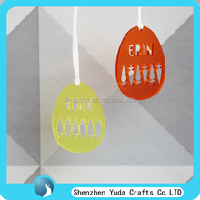 customized acrylic easter gift laser cut oval shape acrylic easter carrot hanging decoration