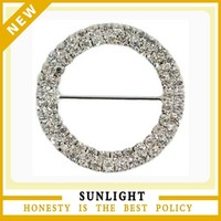 Wholesale High Quality Wedding Chair Sash Rhinestone Buckle For Wedding Decoration