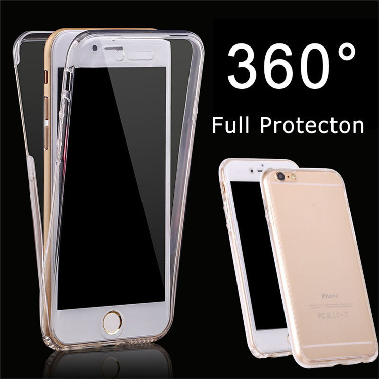 JESOY Shockproof 360 Silicone Protective Clear Cellphone Case <strong>Cover</strong> For Sony Xperia XA