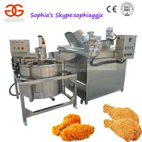 Whole Stainless Steel Automatic Chicken Legs/Wings Frying Machine And Dewater/De-oiling Machine