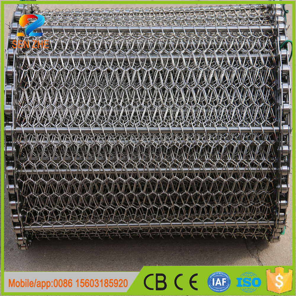 high speed Chain Types chain driven wire net conveyer belts for cooling machinery