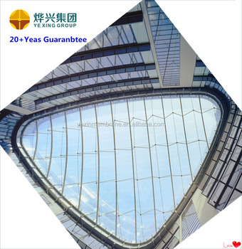 New design ETFE membrane structure for building roof and commercial hollow free design