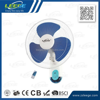 2018 16 inch cheap remote controled electric wall fan