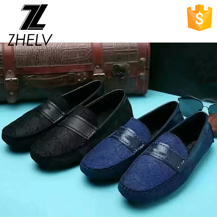 Competitive price italian loafers ebossing carp grain genuine leather mens indoor moccasins shoes