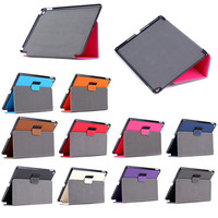 protective Folder leather case for iPad air 2, for ipad air 2 smart case cover stand