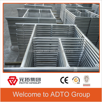 Hot Dipped galvanized scaffolding H type frame for building 1219mm for africa