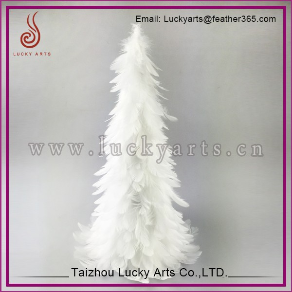 Taizhou Lucky Arts Decorated White Feather Christmas Tree