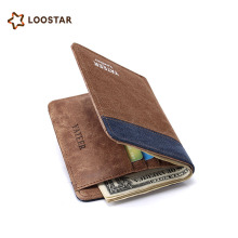 Loostar Best Selling Products New Design Mens Canvas Mini Wallets And Purse