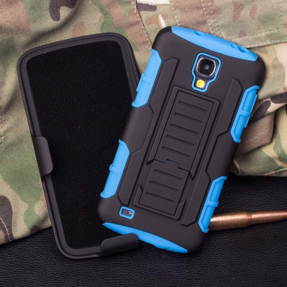 Future Armor Impact Skin Holster Protector Case For Samsung Galaxy S4 Mini I9190 Case Cover With Belt Clip
