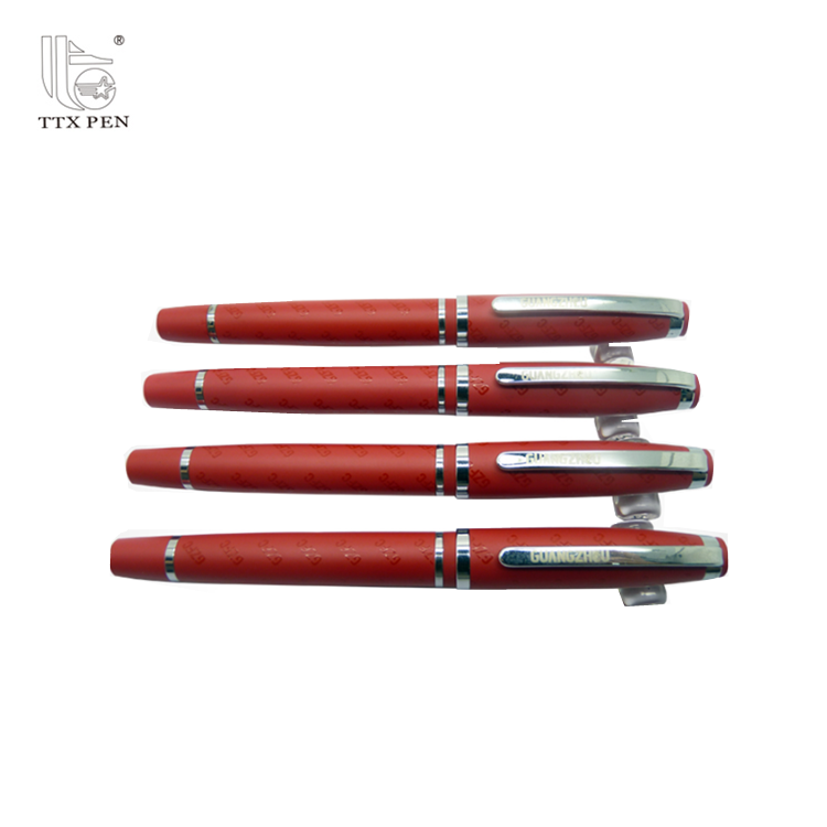 China Manufacturer Red Metal Body Ballpoint Pens Promotional Metallic Ball Pen