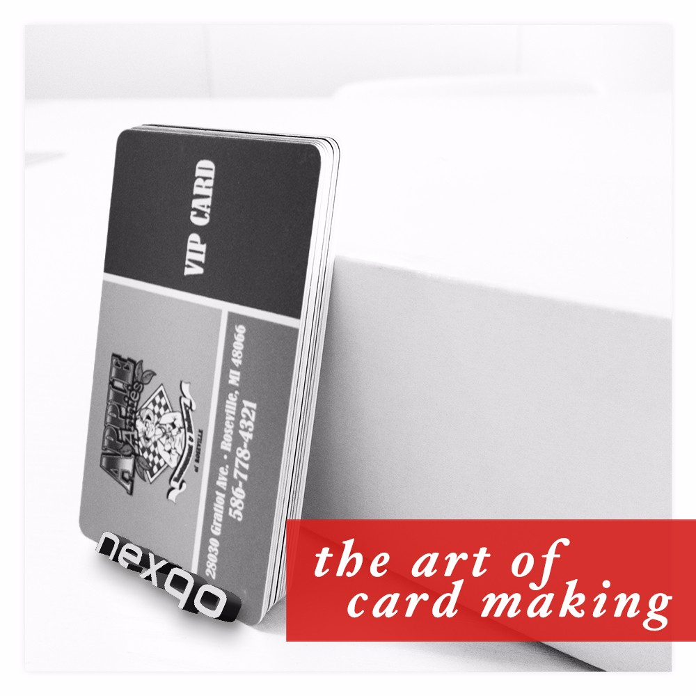 Standard credit card size plastic NFC blank business card
