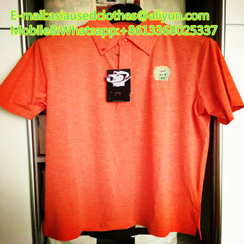 Men seondhand T-shirt clothing in bales for Africa market