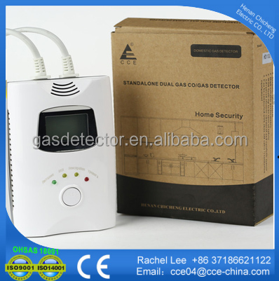 Dual gas CO/ Natural gas alarm detector with relay output