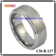 Fashion distress brushed tungsten ring blank mens celtic finger rings