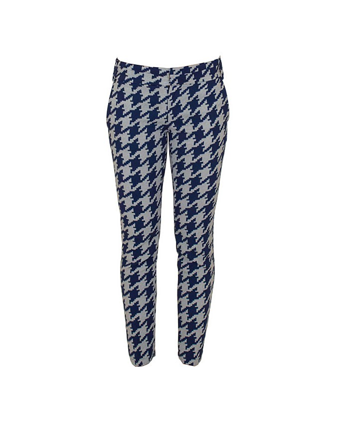Original Design Latest Grid Print Pencil Fit Ladies Trousers