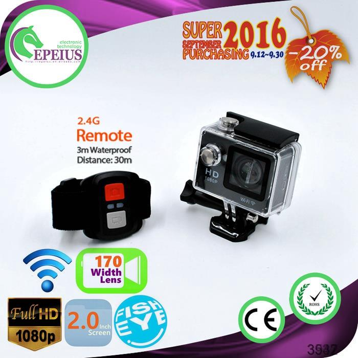 SUPER SEPT. W9R 1080P WIFI ACTION CAMERA WITH REMOTE kamera 1080P MINI WIFI SPORT DV