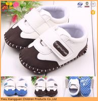Wholesale soft leather baby boy shoes handmade infants sports shoes simple kids frewalk shoes