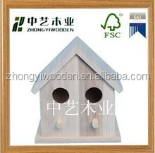 hot selling FSC&SA8000 Manufacturer price 2014 pet products cheap small outdoor 100% new unfinished wooden bird house wholesale